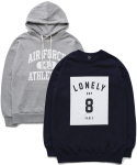 퍼블릭아이콘(PUBLIC ICON) [세트상품] Air Force Hood + Number 8 Sweatshirt