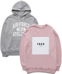 퍼블릭아이콘(PUBLIC ICON) [세트상품] Air Force Hood + Box Logo Sweatshirt
