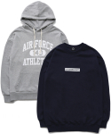퍼블릭아이콘(PUBLIC ICON) [세트상품] Standard Sweatshirt + Air Force Hood