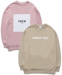 퍼블릭아이콘(PUBLIC ICON) [세트상품] Box Logo Sweatshirt + About You Sweatshirt
