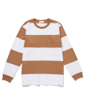 라이풀() BOLD STRIPE POCKET L/S TEE beige