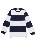라이풀() BOLD STRIPE POCKET L/S TEE navy