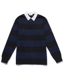 라이풀(LIFUL) STRIPE RUGBY L/S TEE navy