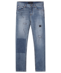 M#1257 tone on tone washed jeans