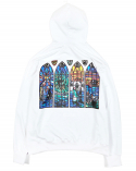 [VERY RARE] Stained Glass Print Hoody_WHT