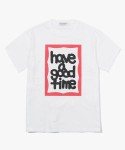 해브 어 굿 타임(HAVE A GOOD TIME) Fat Frame S/S T-Shirt - White