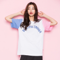 모티브스트릿(MOTIVESTREET) COLOR BLOCK SST WHITE PINK