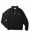 에스피오나지() Battle Hymn Half Zip Sweat Black