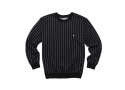 루스리스(RUTHLESS) PIN STRIPE CREW NECK / BK