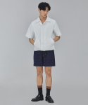 살롱드서울(SALON DE SEOUL) MAN LINE HALF PANTS (NAVY)