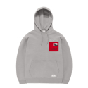 비바스튜디오(vivastudio) DCMNT PATCH HOODIE GS [GRAY]