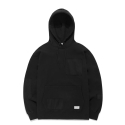 BLANK PATCHED HOODIE GS [BLACK]