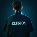 브레인데미지(BRAINDAMAGE) REUNION BIG T-SHIRT NAVY