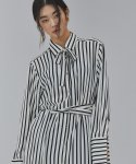 살롱드서울(SALON DE SEOUL) WOMAN STRIPE SHIRT ROBE (WHITE)