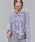 살롱드서울(SALON DE SEOUL) WOMAN MODERN FRILL BLOUSE (PURPLE)