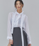 살롱드서울(SALON DE SEOUL) WOMAN MODERN FRILL BLOUSE (WHITE)
