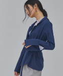 살롱드서울(SALON DE SEOUL) WOMAN DOUBLE JACKET BLOUSE (NAVY)