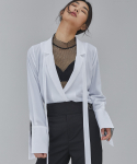 살롱드서울(SALON DE SEOUL) WOMAN DOUBLE JACKET BLOUSE (WHITE)