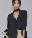 살롱드서울(SALON DE SEOUL) WOMAN DOUBLE JACKET BLOUSE (BLACK)