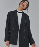 살롱드서울(SALON DE SEOUL) WOMAN UNBALANCE JACKET (BLACK)