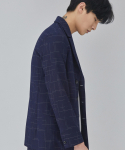 살롱드서울(SALON DE SEOUL) MAN SINGLE LINE JACKET (NAVY)