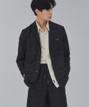 MAN SINGLE LINE JACKET (BLACK)