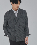UNISEX DOUBLE CHECK JACKET (BLACK)