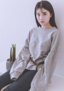 pepper strappy sweatshirt (gray)