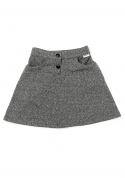 color string skirt (charcoal)