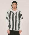 위캔더스(WKNDRS) PIN STRIPE SHORT-SLEEVE SHIRTS (BLACK)