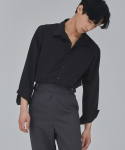 살롱드서울(SALON DE SEOUL) MAN OVER FIT EYELET SHIRT (BLACK)
