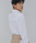살롱드서울(SALON DE SEOUL) MAN OVER FIT EYELET SHIRT (WHITE)