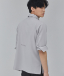 살롱드서울(SALON DE SEOUL) MAN OVER FIT EYELET SHIRT (GREY)