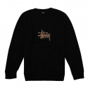 스투시() [스투시] STUSSY SHADOW STOCK APP CREW (BLACK) [118233-BLAC]