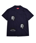 GORILL EMBROIDERY S/S SHIRTS_NAVY
