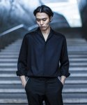 가먼트레이블() Retro Open Collar Shirts - Black