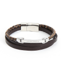 내셔널 퍼블리시티(NATIONAL PUBLICITY) LAYERED LEATHER BRACELET_BROWN