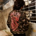 굿펠라즈(GOODFELLAS) Snake Varsity Jacket Woodcamo