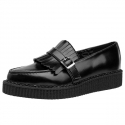 티유케이(T.U.K) [T.U.K] A9120 Black Kiltie Pointed Loafer Creeper