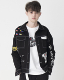 비에이블투() Artist Hommage Denim Trucker Jacket (BLACK)