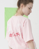 비에이블투(B ABLE TWO) Slanted Pocket T-shirts (PINK)