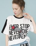 비에이블투(B ABLE TWO) NEVER Graphic T-shirts (WHITE)