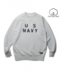 에스피오나지() US NAVY Sweat Shirt Grey