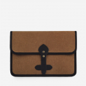 모노노(MONONO) Vintage Clutch Bag (Hard Type) - Wax Canvas Camel