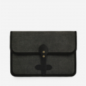 모노노(MONONO) Vintage Clutch Bag (Hard Type) - Wax Canvas Charcoal