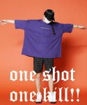 ONE SHOT ONE KILL SUPER OVER T-SHIRTS PURPLE
