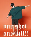 ONE SHOT ONE KILL SUPER OVER T-SHIRTS GREEN