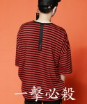 BACKTAPE SUPER OVER STRIPE T-SHIRTS RED
