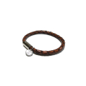 오뜨르 뒤 몽드(AUTOUR DU MONDE) BOLD LEATHER MEN BRACELET (BROWN)