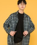 시에스타() MEDIUM SQUARE CHECK SHIRTS [BLUE]